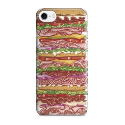 Чехол для iPhone 7/8 Бутерброд