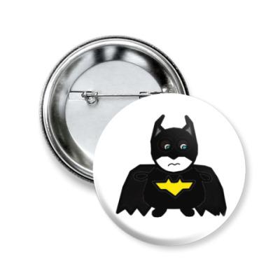 Значок 50мм MiniHero_Batman_Sad