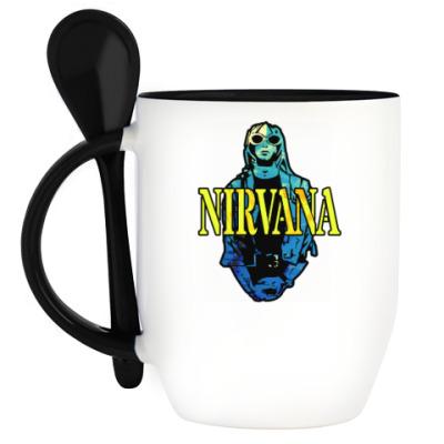 Кружка с ложкой Nirvana