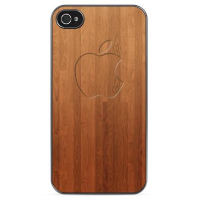 Чехол для iPhone Mac Wood