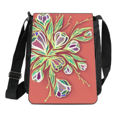 Сумка-планшет Glowing flowers