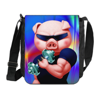 Сумка на плечо (мини-планшет) IRON PIG