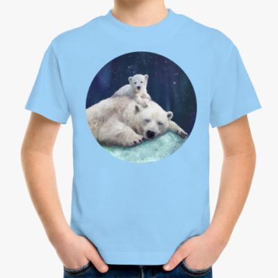 Детская футболка Полярные белые медведи