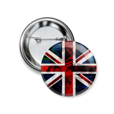 Значок 37мм Британский флаг