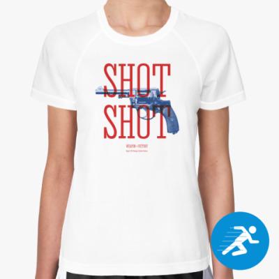Женская спортивная футболка Оружие СССР