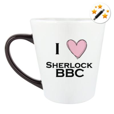 Кружка-хамелеон I love Sherlock