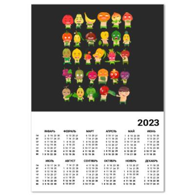 Календарь Фрукты, Овощи и Ягоды
