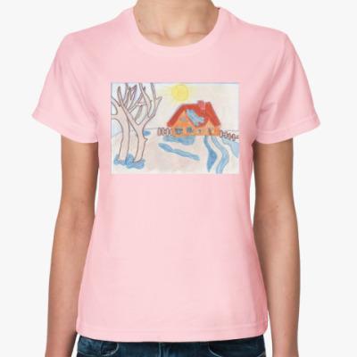 Женская футболка «Тает снег»