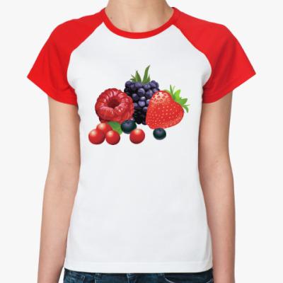 Женская футболка реглан Ягоды