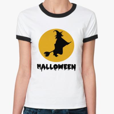 Женская футболка Ringer-T Время ведьм Хэллоуин