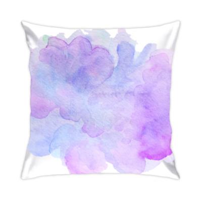 Подушка Мягкая абстрактная акварель