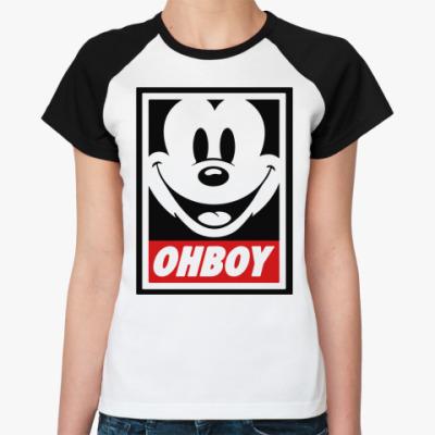 Женская футболка реглан OHBOY