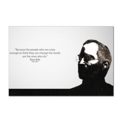 Наклейка (стикер) Steve Jobs цитата