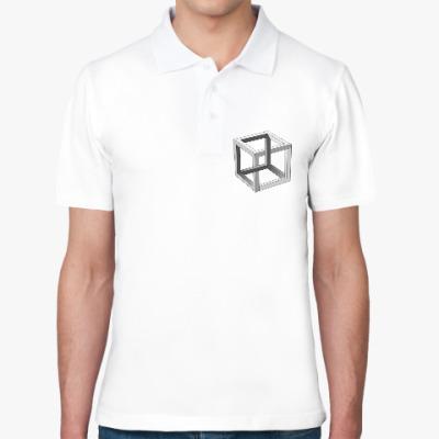 Рубашка поло Невозможный Куб 3D