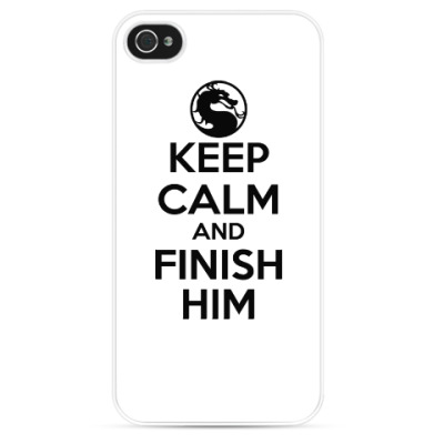 Чехол для iPhone Keep calm and finish him