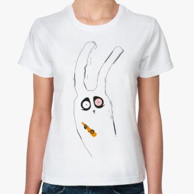 Классическая футболка Кролик с морковкой