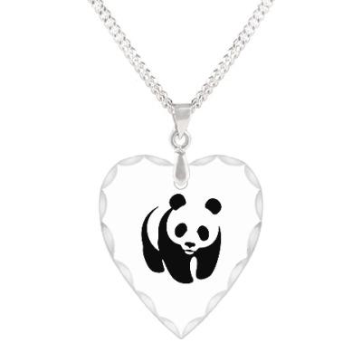 Кулон 'сердце' WWF. Панда