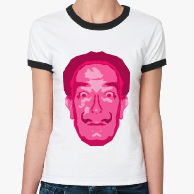 Женская футболка Ringer-T Сальвадор Дали