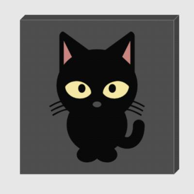 Холст Черный Котик