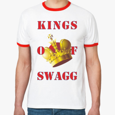 Футболка Ringer-T KINGS OF SWAGG