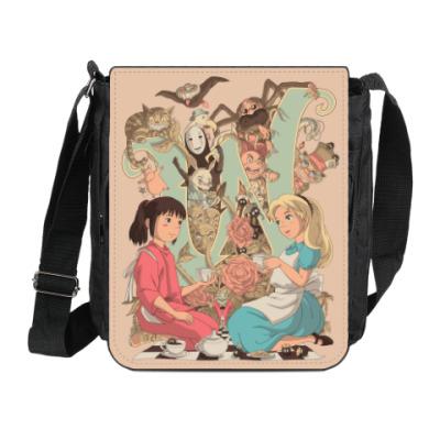 Сумка на плечо (мини-планшет) Wonderland Alice and Chihiro