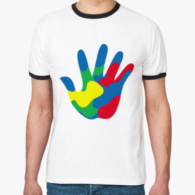 Футболка Ringer-T Отпечаток Руки