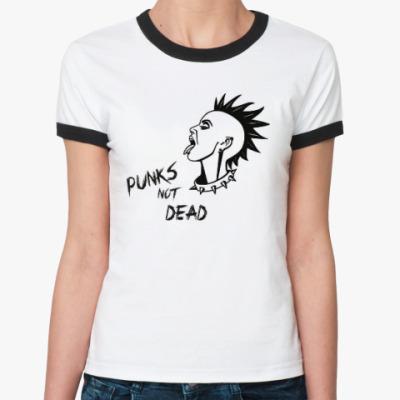 Женская футболка Ringer-T Punks