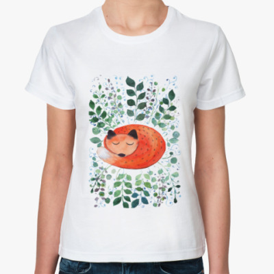 Классическая футболка Лиса в траве