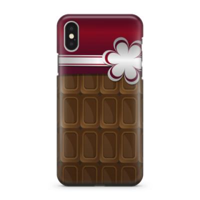 Чехол для iPhone X шоколадка