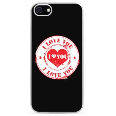 Чехол для iPhone Печать I Love You