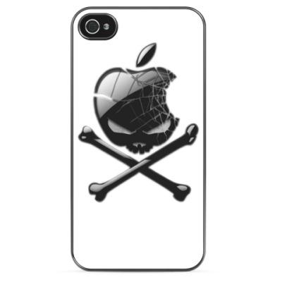 Чехол для iPhone Apple Black Skull