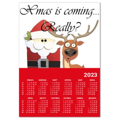Календарь Рождество наступает