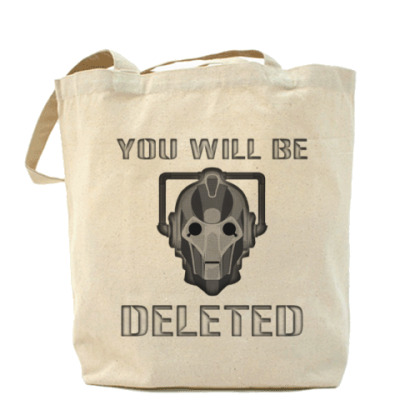 Сумка You will be DELETED Doctor Who