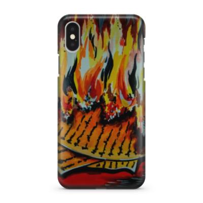 Чехол для iPhone X Огонь практик