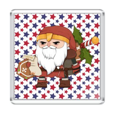 Магнит Brutal Santa