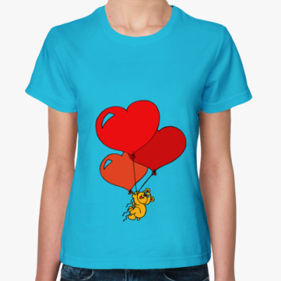 Женская футболка Воздушная любовь!