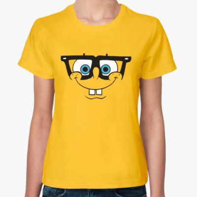 Женская футболка (жен)   с Губкой Бобом