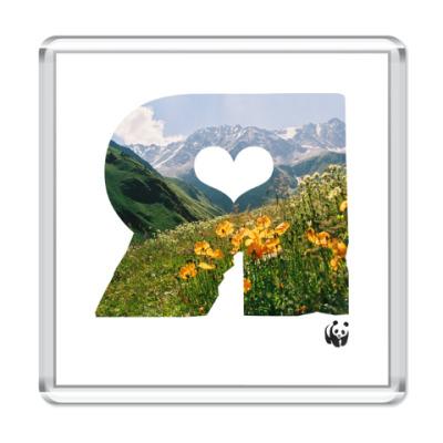 Магнит WWF. Я - это Горы и цветы!