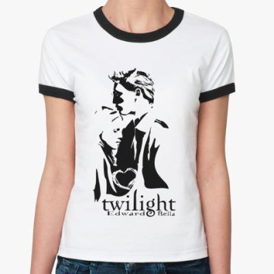 Женская футболка Ringer-T Эдвард и белла (Сумерки)