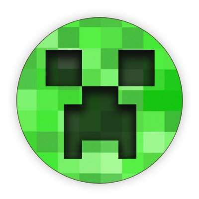 Костер (подставка под кружку) Minecraft Creeper