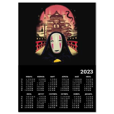 Календарь Унесенные призраками Миядзаки