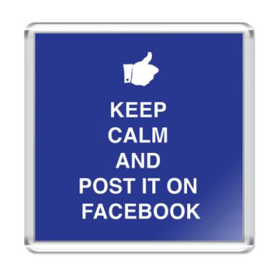 Магнит Keep calm and post