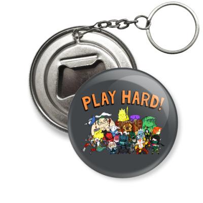 Брелок-открывашка Play Hard!