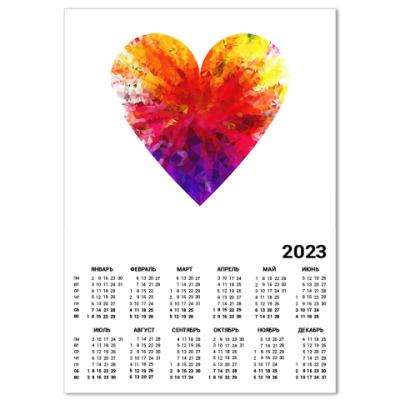 Календарь Сердечко