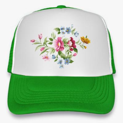 Кепка-тракер Цветы