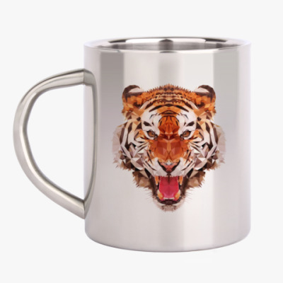 Кружка металлическая Тигр