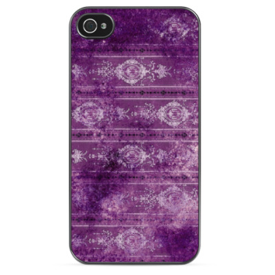 Чехол для iPhone Фиолетовый узор