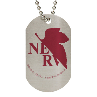 Жетон dog-tag  NERV (металлик)