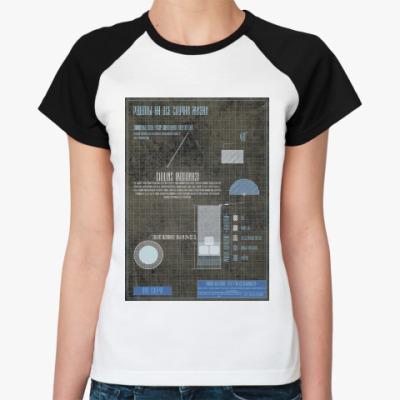 Женская футболка реглан Рецепт коктейль Отвертка