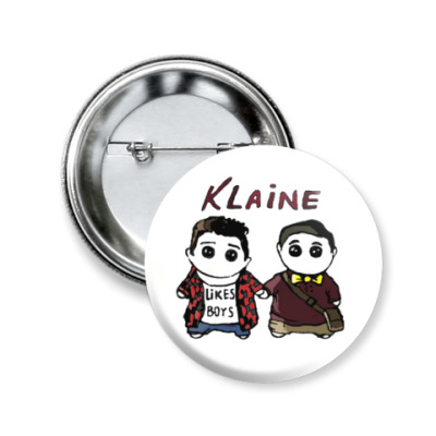 Значок 50мм Klaine ( Glee Cast )